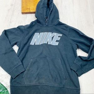 Nike Black Hooded Long Sleeve Pullover Sweatshirt